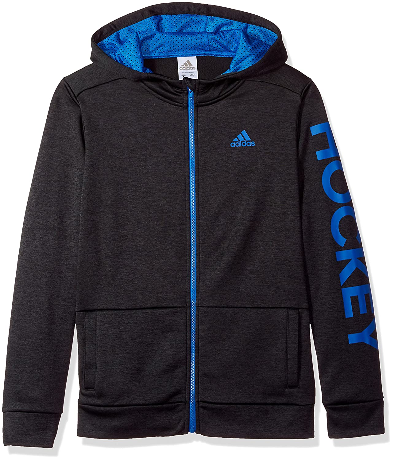 adidas Hockey Boy's Badge Of Sport Full Zip Hoody