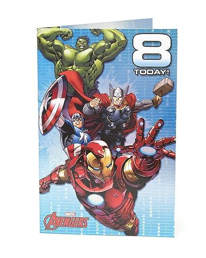 Carlton 480724-0 - 2,5 cm Disney Marvel Avengers Age Tarjeta ...