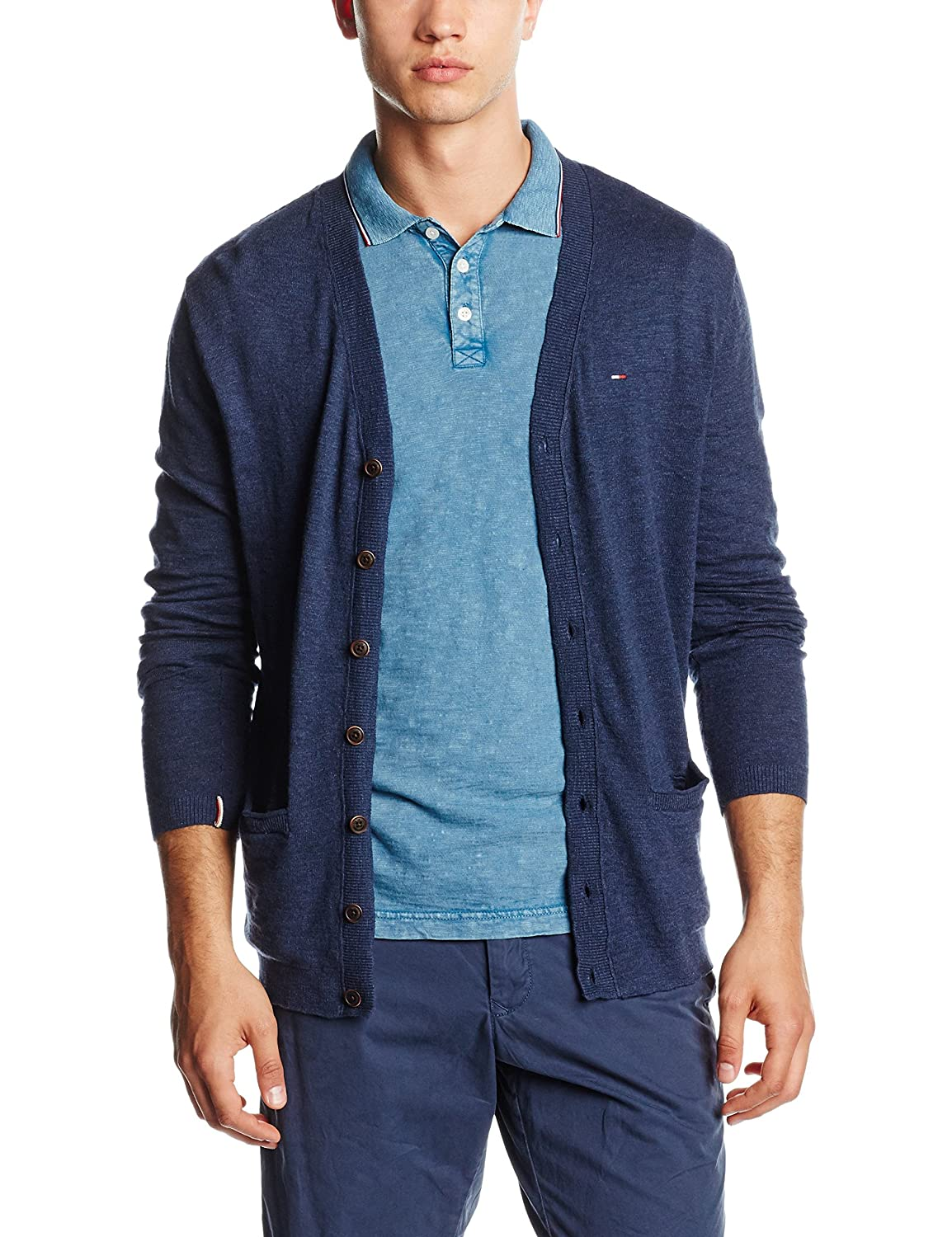 Hilfiger Denim Herren Strickjacke Thdm Basic Cardigan L/s 3