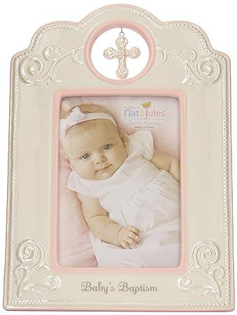 nat and jules babys baptism frame