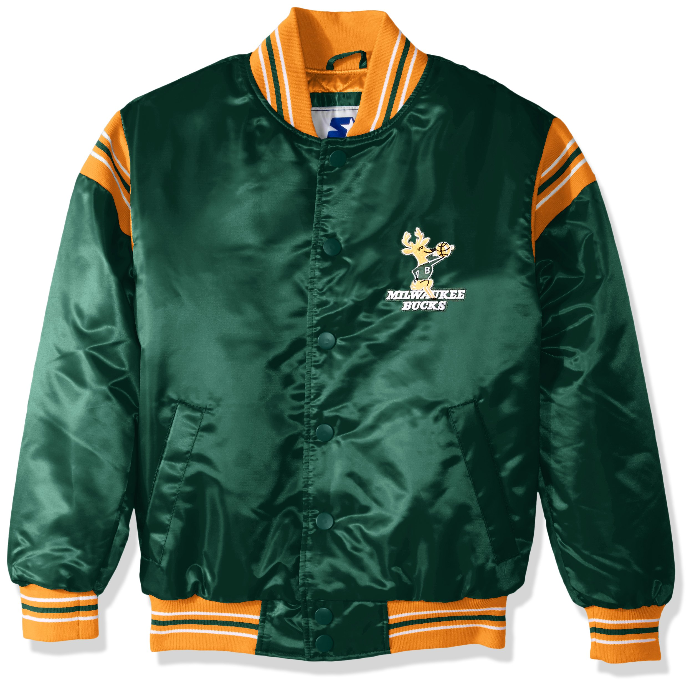 012411b1b STARTER NBA Youth Boys The Enforcer Retro Satin Jacket - Boston Fanz