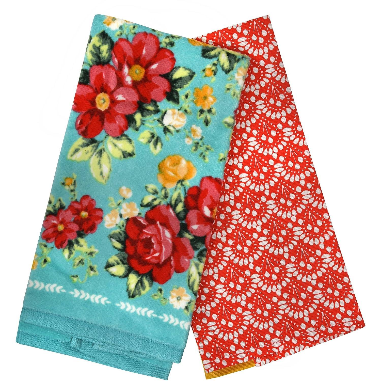 Pioneer Woman Vintage Floral Kitchen Towels Set of 2