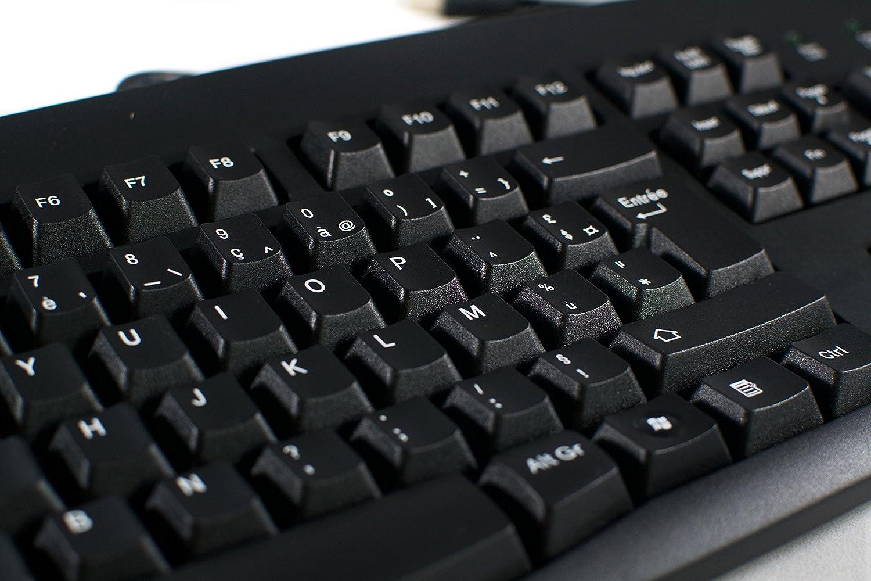Amazon French European Language Keyboard Black Usb Windows