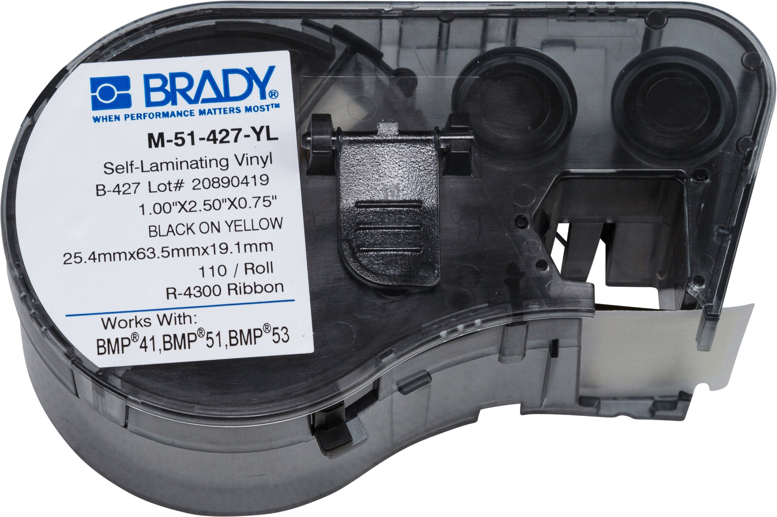 Brady M-51-427-YL Labels for BMP53/BMP51 Printers