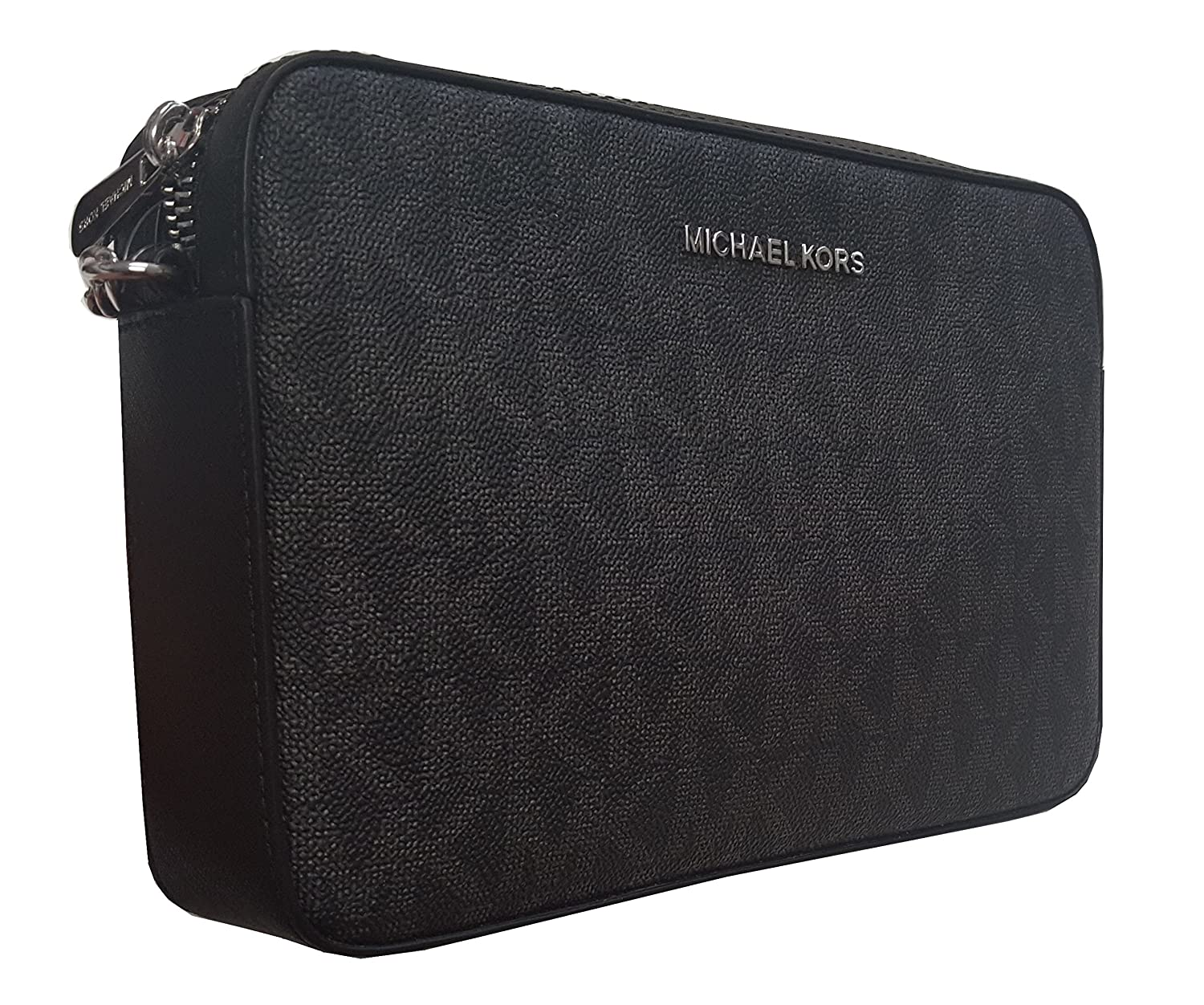 fb983b23afcd41 Michael Kors Jet Set Large East West Crossbody Bag Black MK Signature:  Handbags: Amazon.com