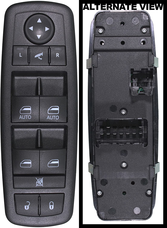 APDTY 133913 Master Power Window, Door Lock, Mirror-Adjust Switch Fits Front Left Select Chryler Town & Country Dodge Grand Caravan Ram 1500 2500 3500 Crew Cab Pickup (Power Fold, See Description)