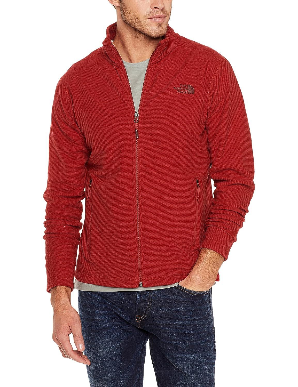 180e06349 The North Face Mens Texture Cap Rock Full Zip Fleece Cardinal Red ...