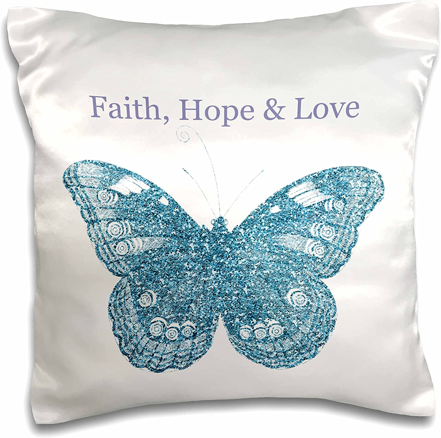 Details about  /Faith Hope Love Courage Pink Cushion Cover Pillow Case Sofa Throw One Piece