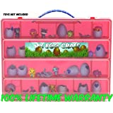 Hatchimals Colleggtibles Storage Organizer - My Egg Crate - Durable Carrying Case For Mini Eggs, Easter Eggs & Speckled Eggs - By Life Made Better- Red