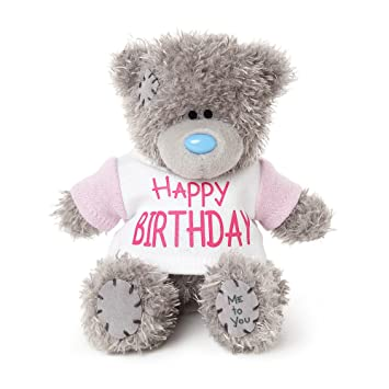 Me To You - Oso de Peluche con Texto en Inglés Happy Birthday