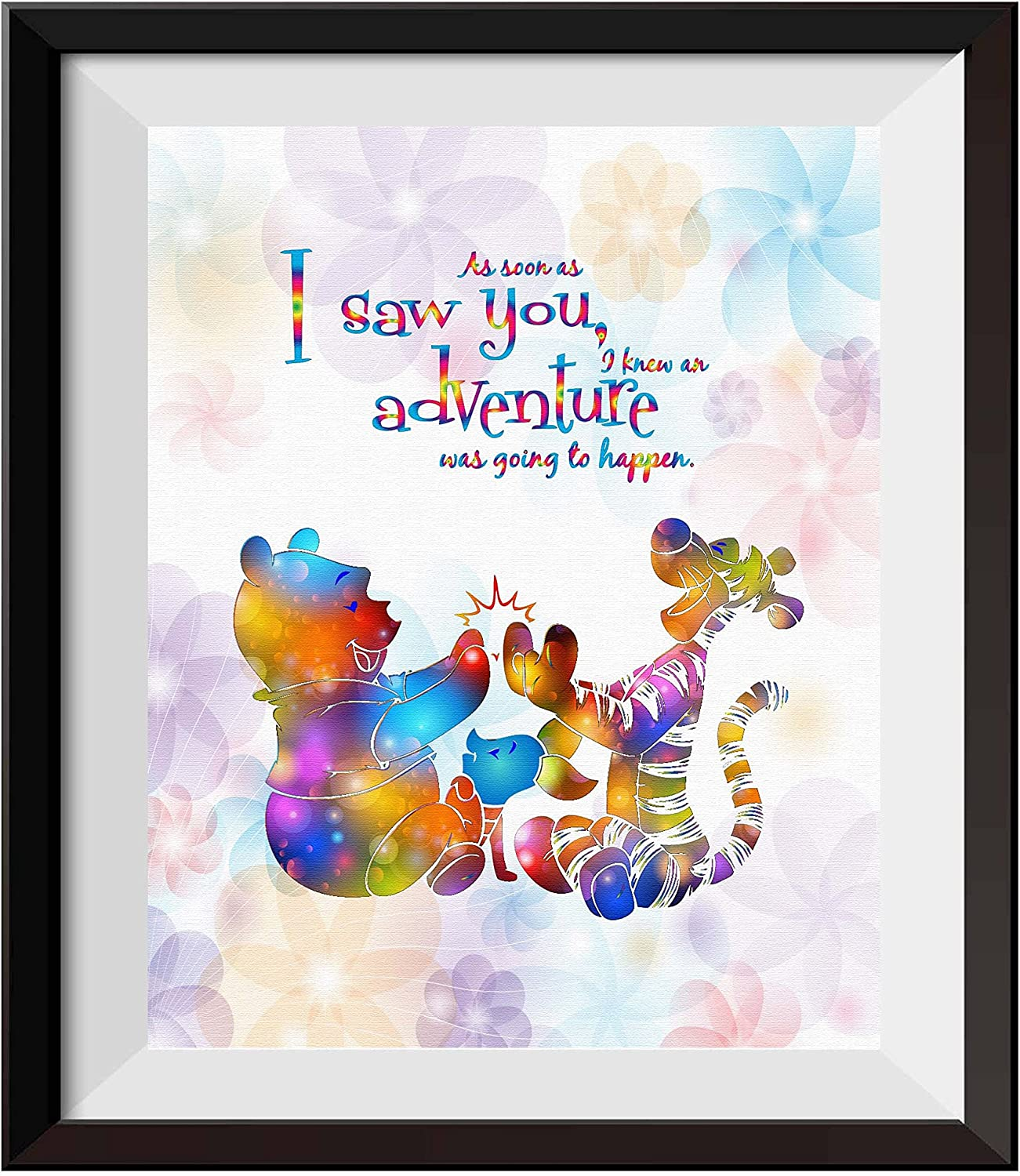 Uhomate Nursery Decor Winnie The Pooh Quotes Winnie Pooh Home Canvas Prints Wall Art Baby Gift Inspirational Quotes Wall Decor Living Room Bedroom Artwork C094 (8X10)