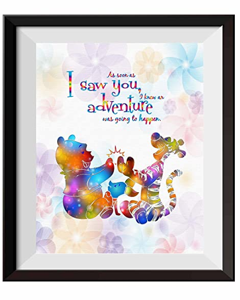 Uhomate Nursery Decor Winnie The Pooh Quotes Winnie Pooh Home Canvas Prints Wall  Art Anniversary Gifts