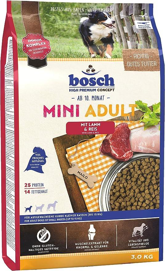 bosch HPC Mini Adult   con Cordero y Arroz   Comida seca para perros adultos de razas pequeñas   3 kg