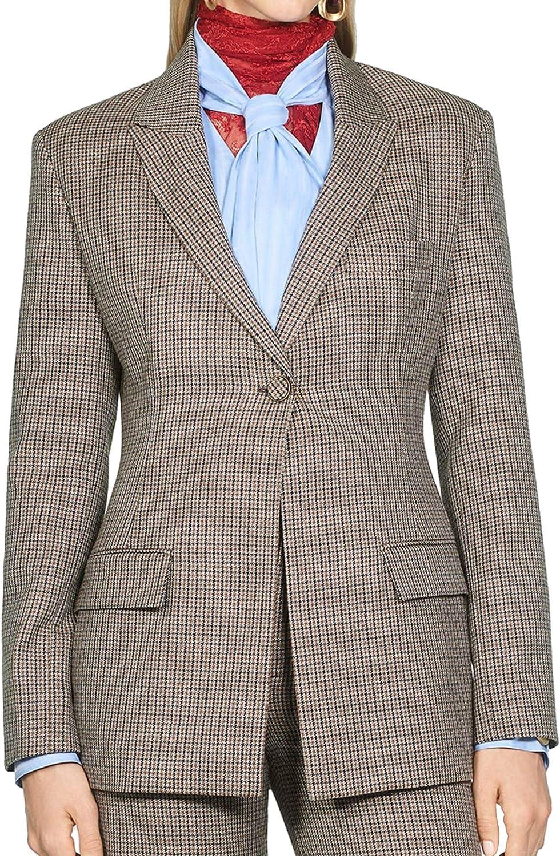 Zara 8336/700/700 - Chaqueta de Cuadros para Mujer marrón S ...