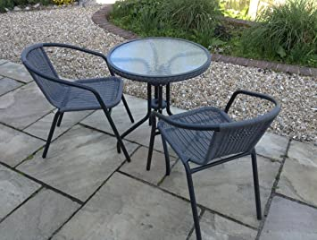 sale bistro chair table set with aluminium frame garden rh amazon co uk