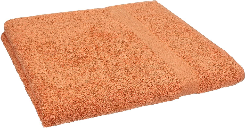 BETZ Serviette de Toilette 100/% Coton Taille 50x100 cm pour Visage Mains Corps Serviette Premium Couleur Orange