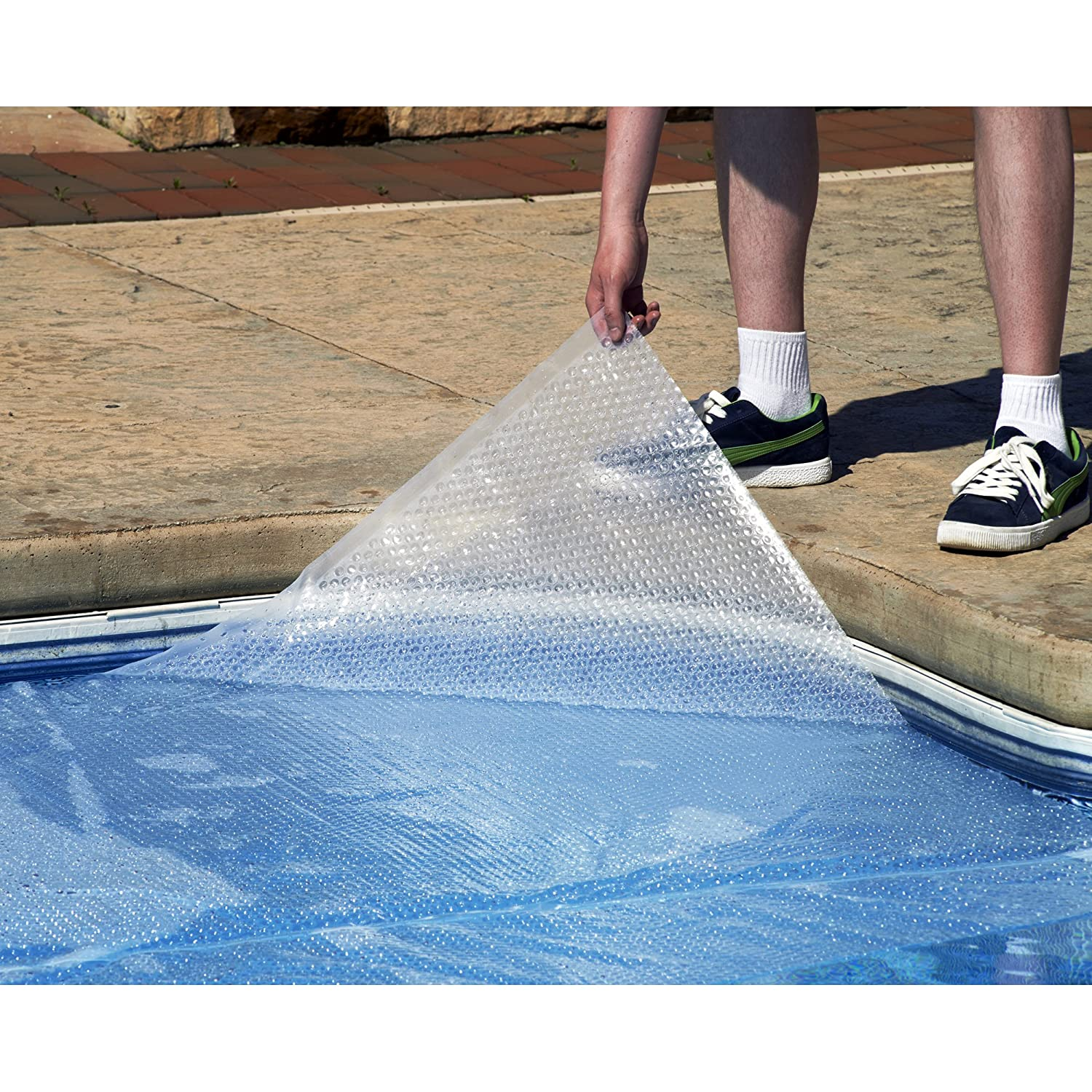 Blue Wave 24-Feet Round Solar Blanket for Above Ground Pools 12-mil, Clear
