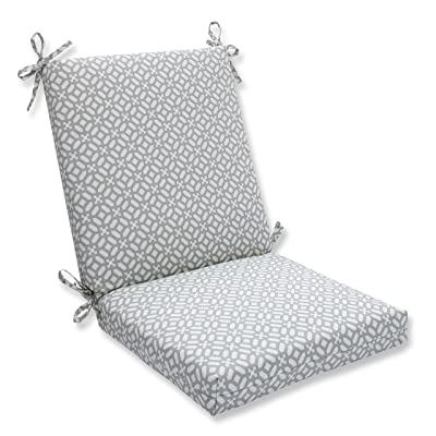 """Pillow Perfect Outdoor/Indoor in The Frame Pebble Square Corner Chair Cushion, 36.5"""" x 18"""": Home & Kitchen"""