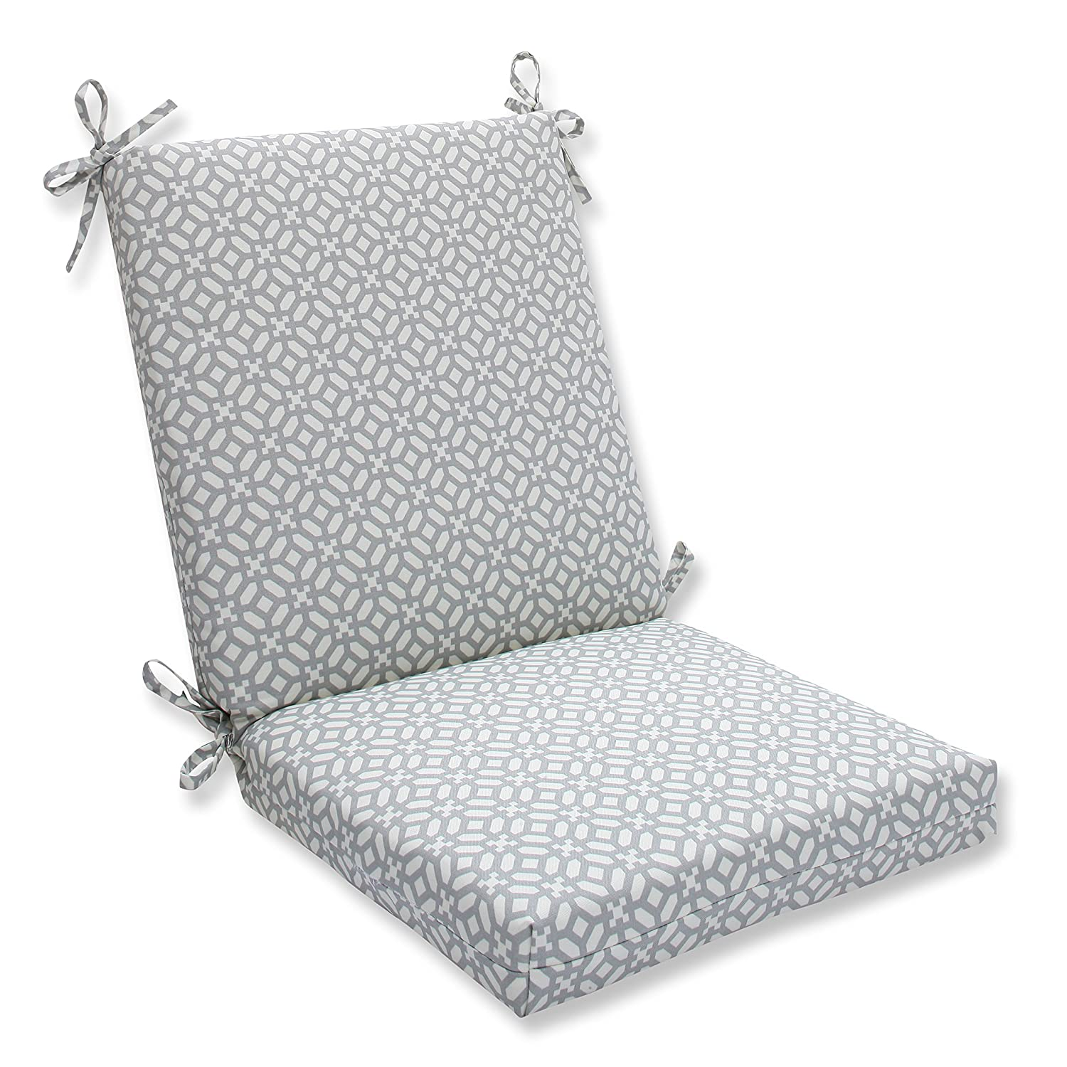 Pillow Perfect Outdoor/Indoor in The Frame Pebble Squared Corners Chair Cushion