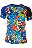 The Freisein Project Kurzarm Base-Layer Funktions-Shirt Gipsy Queen mit Blumen-Muster im Hippie-Stil (Damen)