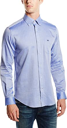 Pedro del Hierro Twill FA Liso TB/D Camisa para Hombre