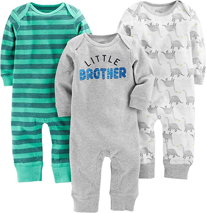 3er-Pack Simple Joys by Carters Baby-Overall f/ür M/ädchen