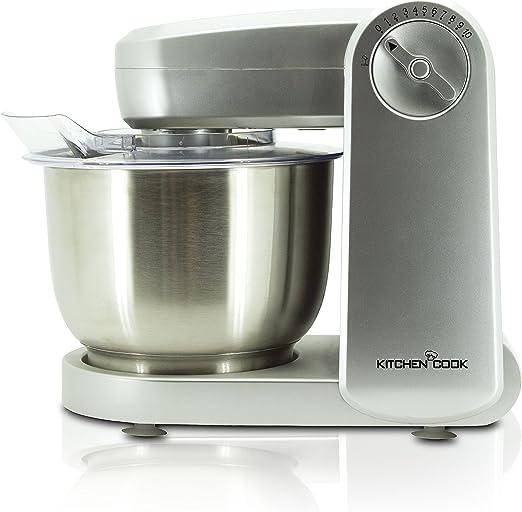 KitchenCook Mixmaster Silver V1 - Robot de cocina multifunción, 10 velocidades, color plateado: Amazon.es: Hogar