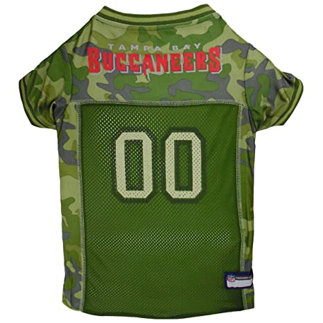 972a98f9 NFL Tampa Bay Buccaneers Camouflage Dog Jersey, Small. - CAMO PET Jersey  Available in