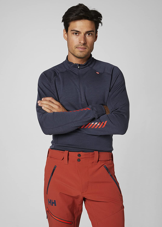 Men 48399 Helly Hansen Mens Lifa Merino Classic 1//2/Zip Long Sleeve Base Layer