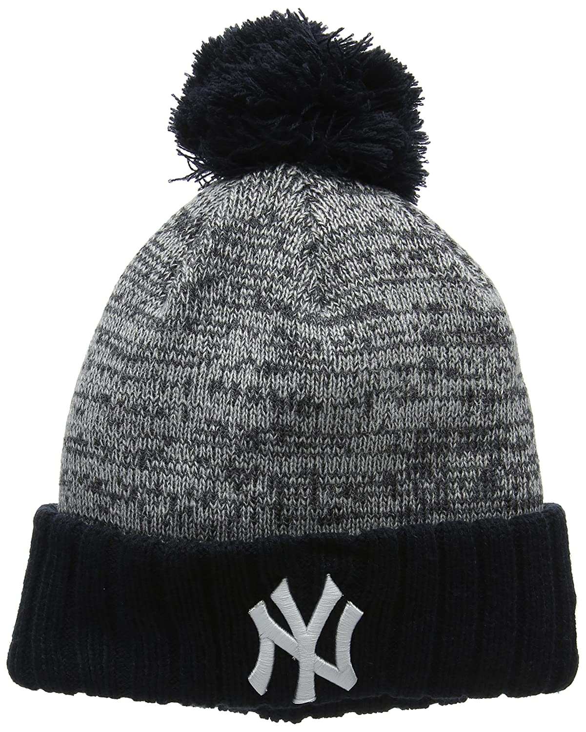3e73cdb50c9 shop new era lightweight felt bobble new york yankees hat 3cd52 8483e   czech new era mens heather bobble knit ny yankees beanie grey grey one size  ...
