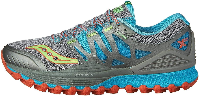 Saucony Women's Xodus Iso Trail Runner B018FAI5NK 10.5 B(M) US|Grey/Blue/Silver