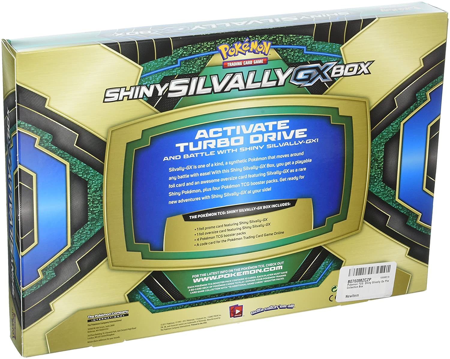 Pokemon Tcg Shiny Silvally Gx Premium Collection Box Ama Zon Plus Toys Games