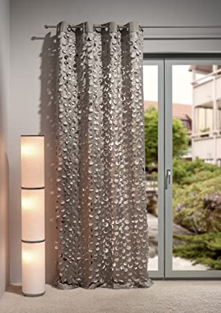 Heco OESA Trinity 20 Curtain Fabric Taupe schlamm Colours, 245 x