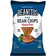 Beanitos Simply Pinto Bean Chips with Sea Salt Plant Based Protein Good Source Fiber Gluten Free Non-GMO Vegan Corn Free Tortilla Chip Snack 6 Ounce (Pack of 6)