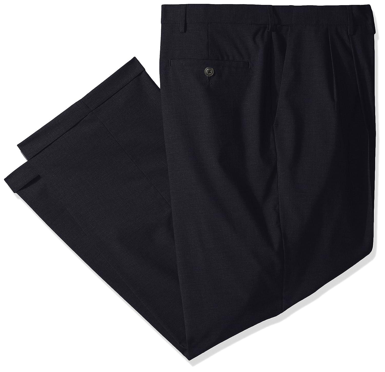 Haggar Men's Big & Tall Premium Stretch Solid Expandable Waist Plain Front Dress Pant Haggar Men's Bottoms