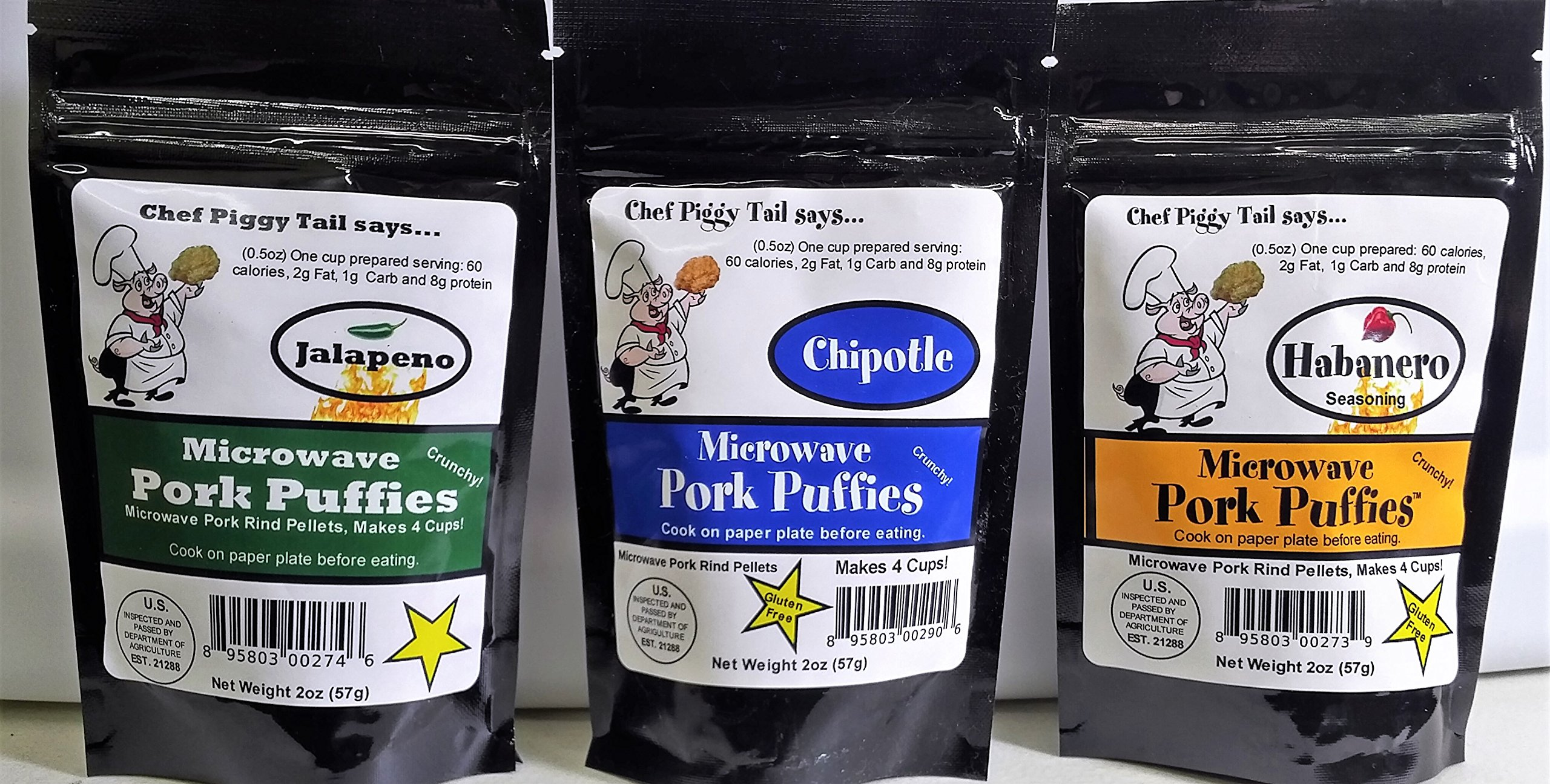 Microwave Pork Rinds HOT HOT HOT 6-pack (2oz Pkgs)