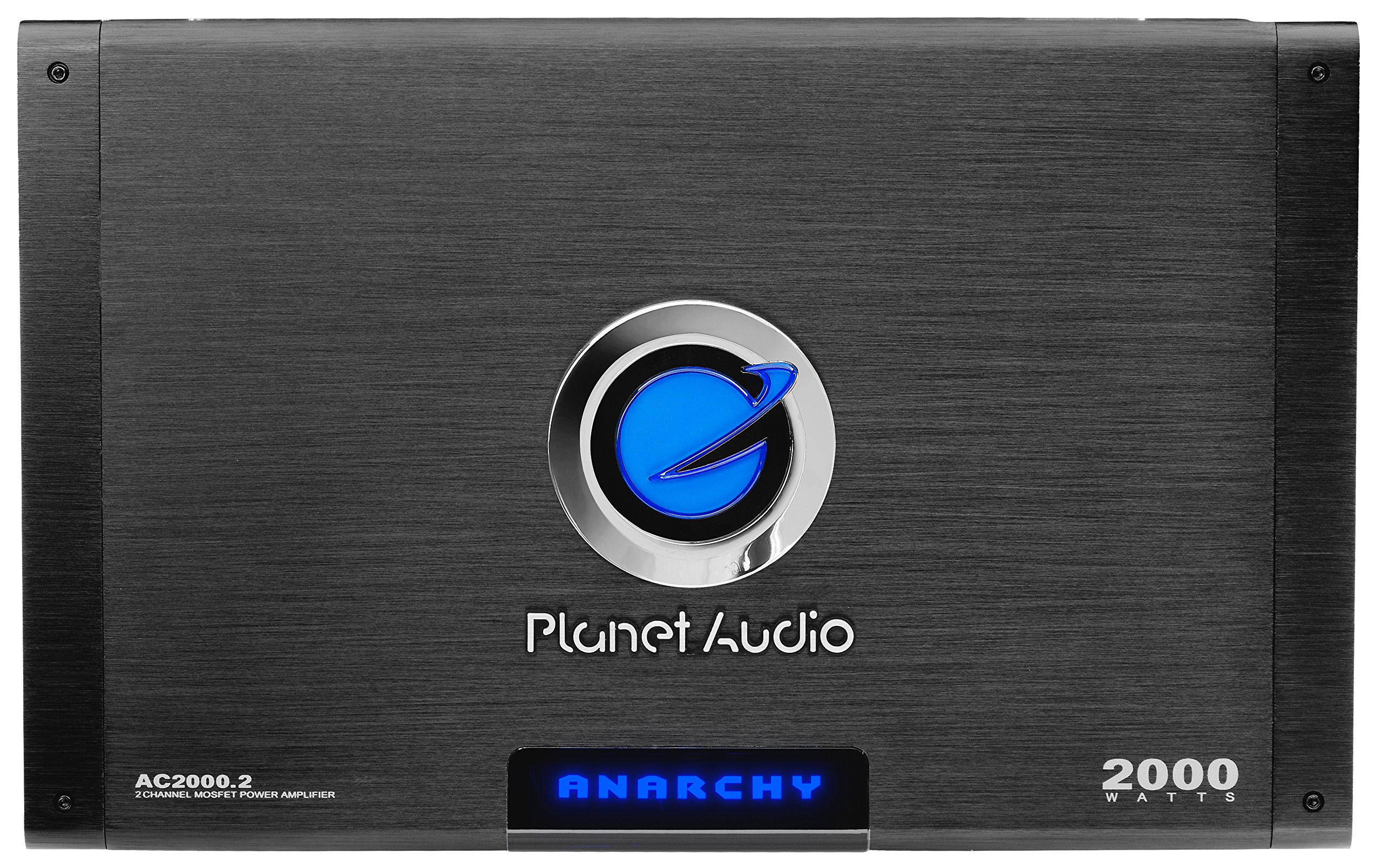 Planet Audio AC2000.2 Anarchy 2000 Watt, 2 Channel, 2/4 Ohm Stable Class A/B, Full Range, Bridgeable, MOSFET Car Amplifier with Remote Subwoofer Control