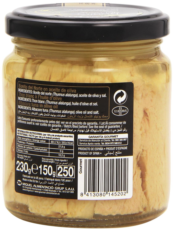Gourmet - Bonito del norte - en aceite de oliva - 150 g: Amazon.es: Alimentación y bebidas