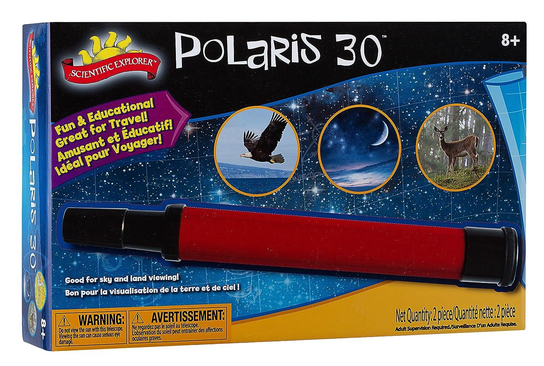 Scientific Explorer Handheld Polaris 30 Telescope with 30X Magnification Alex 0SA403BL