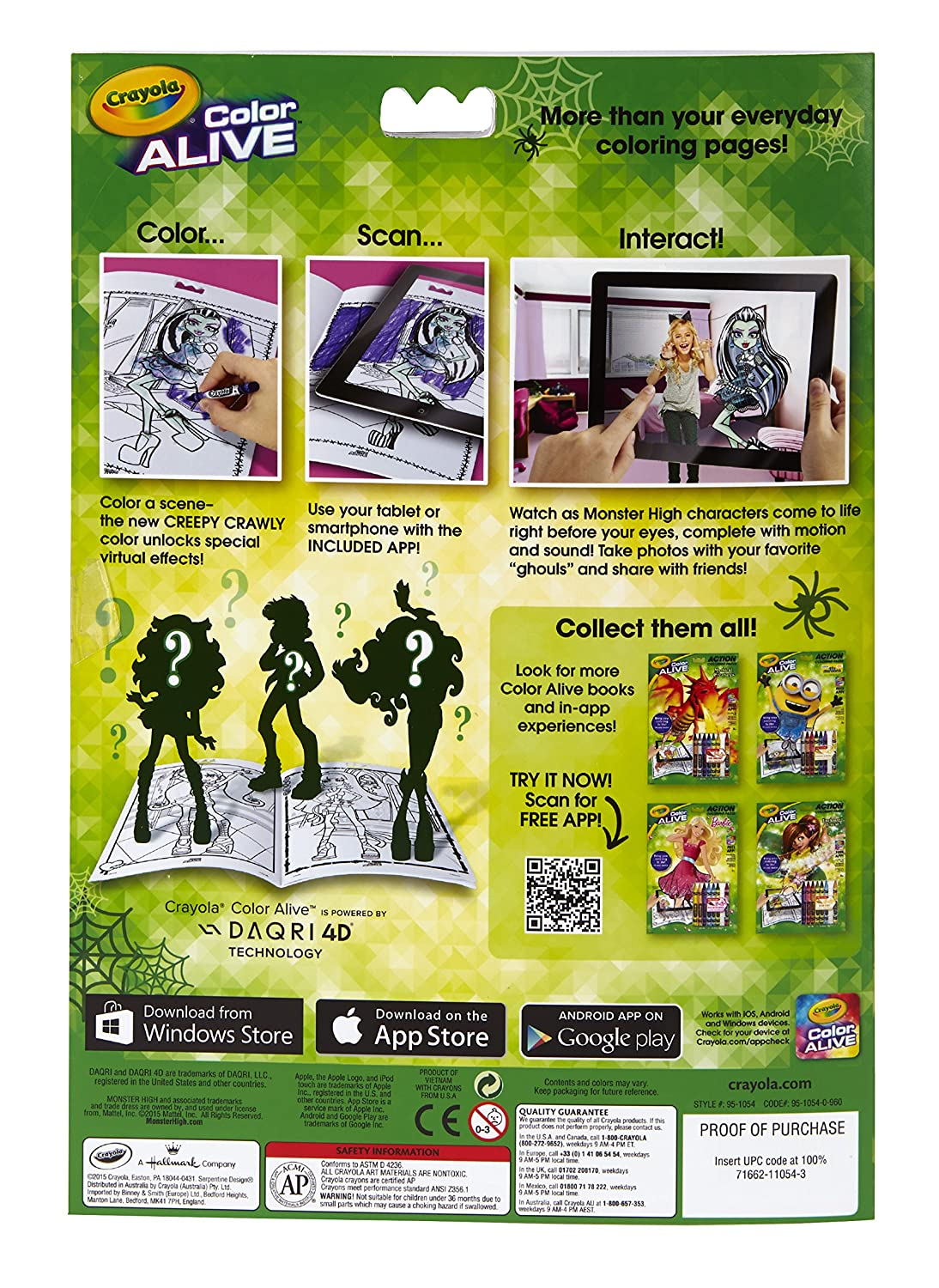 amazoncom crayola color alive monster high toys games - Color Alive Coloring Pages Minions