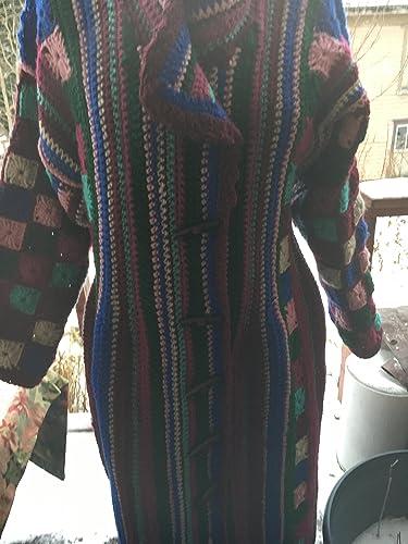 e96156a3bce861 Amazon.com  Hand crochet Granny squares sweater coat  Handmade