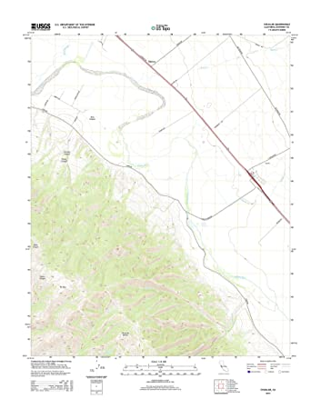 Amazoncom Topographic Map Poster CHUALAR CA TNM GEOPDF 75X75