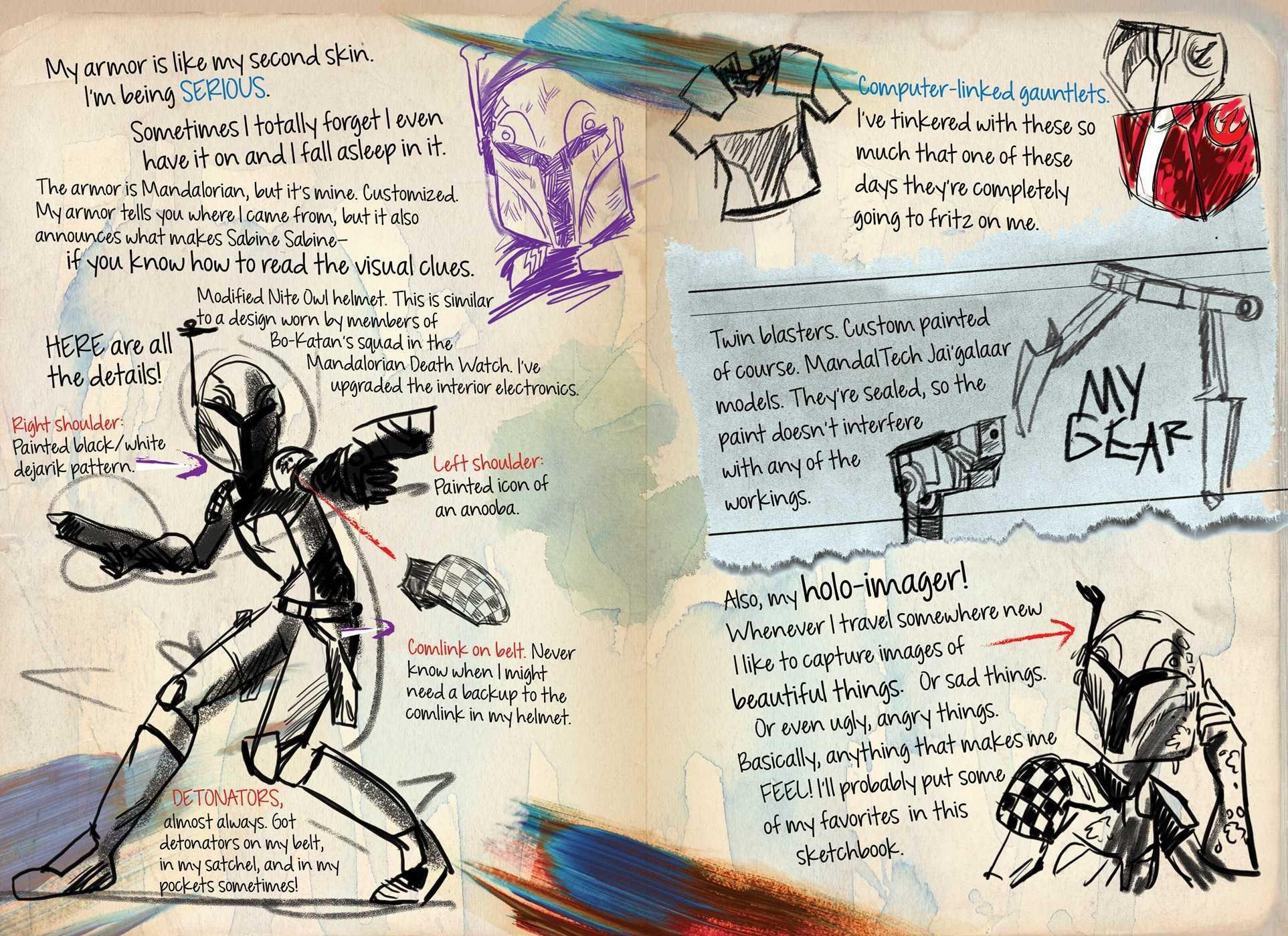 Star Wars Rebels: Sabine My Rebel Sketchbook: Daniel Wallace, Annie Stoll:  9780794432898: Amazon: Books