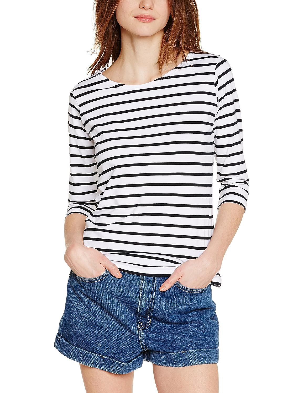 Armor Lux 06225 - T-shirt - À rayures - Manches longues - Femme