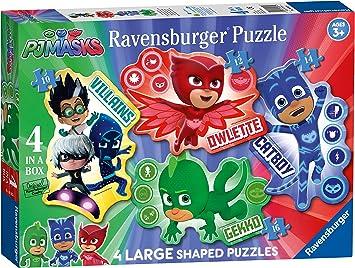 Ravensburger PJ Masks-4 Rompecabezas de Gran tamaño (10, 12, 14, 16 Piezas) para niños de 3 años y más, Large (6935)