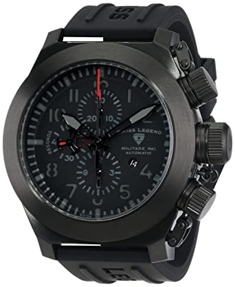 swiss legend men s 1101 bb 01 militare no1 collection automatic swiss legend men s 1101 bb 01 militare no1 collection automatic chronograph black rubber watch
