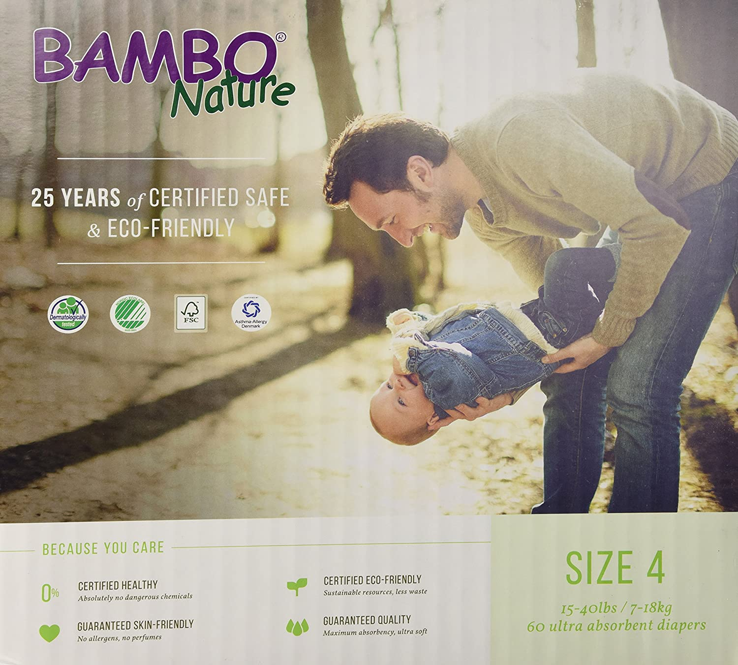 Bambo Nature Premium Baby Diapers, Maxi, Size 4, 60 Count by Bambo Nature   B00VSHUA22