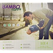 Bambo Nature Eco Friendly Baby Diapers Classic for Sensitive Skin, Size 4 (15-40 lbs), 60 Count (2 Packs of 30)