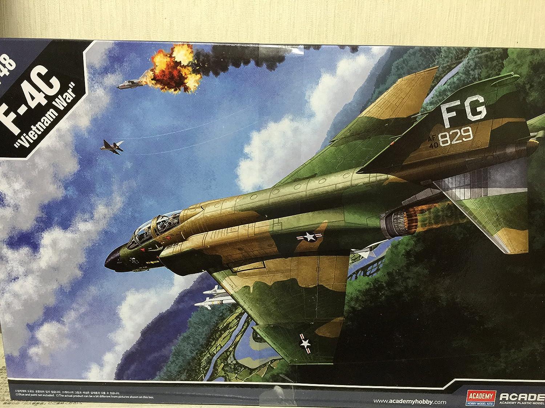 アカデミー 1/48 USAF F-4C ベトナム戦争 並行輸入品 [並行輸入品] B07286Y6KQ
