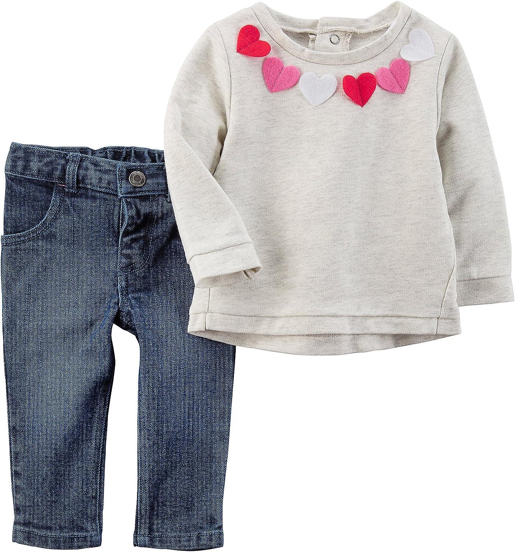 Heart Shaped Denim Baby Set